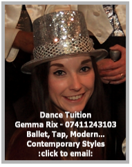 email Gemma for all your dance requirements.